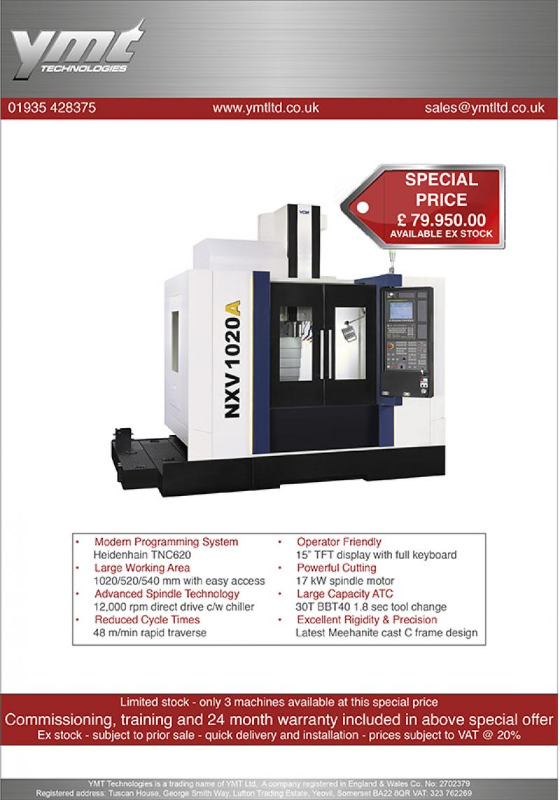 MACHINING CENTRE SPECIAL OFFER